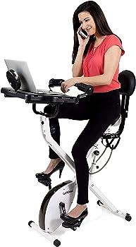 FitDesk Standing Adjustable Desk Exercising Bike