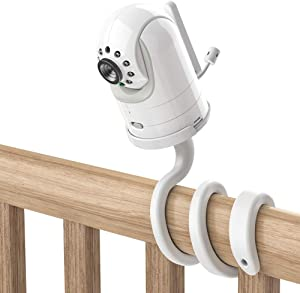 """Andmax Adjustable Crib Mount for Infant Optics DXR-8 Baby Monitor, with 1/4"""" Threaded Hole, Attaches to Crib Cot Shelves or Furniture, No Need Tools OR Wall Damage"""