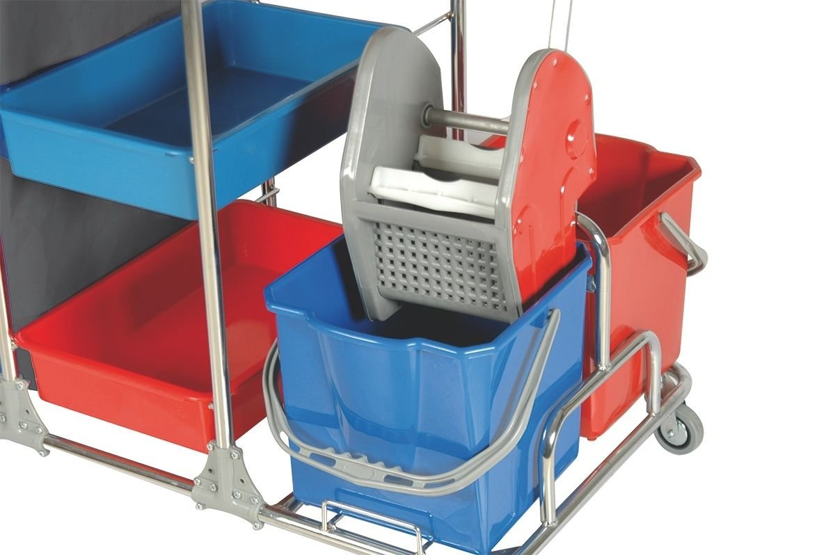 Complete Aviva Clean Esmp Cleaning Cart System Chrome