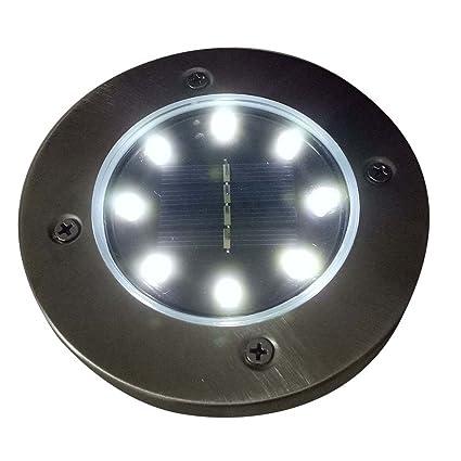 Yunhigh 8 Lampes Solaires Au Sol Interrupteur Optique Led