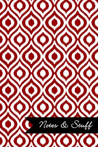 Read Online Notes & Stuff - Lined Notebook with Brick Red Ikat Pattern Cover: 190 Pages, Medium Ruled, 6 x 9 Journal, Soft Cover pdf