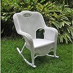 International Caravan 3195-WT-IC Furniture Piece Resin Wicker Indoor/Outdoor Rocker