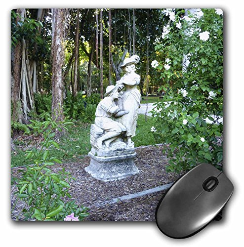 (3dRose LLC 8 x 8 x 0.25 Inches Mouse Pad, Romantic Garden Statue with Banyan Roots (mp_37247_1))