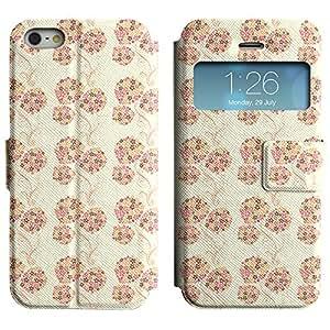 LEOCASE Pequeñas Flores Funda Carcasa Cuero Tapa Case Para Apple iPhone 5 / 5S No.1000014