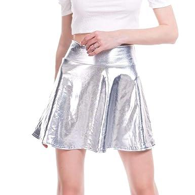 JiXuan Danse Jupe Ballet Patinage Robinet Jazz Gymnastique Métallique Wet  Look Brillant Aluminium Party Disco Costume 52480d37a2e
