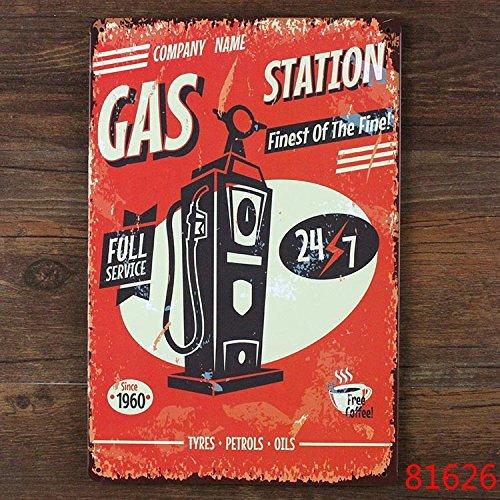 Gas Station Pump tin sign