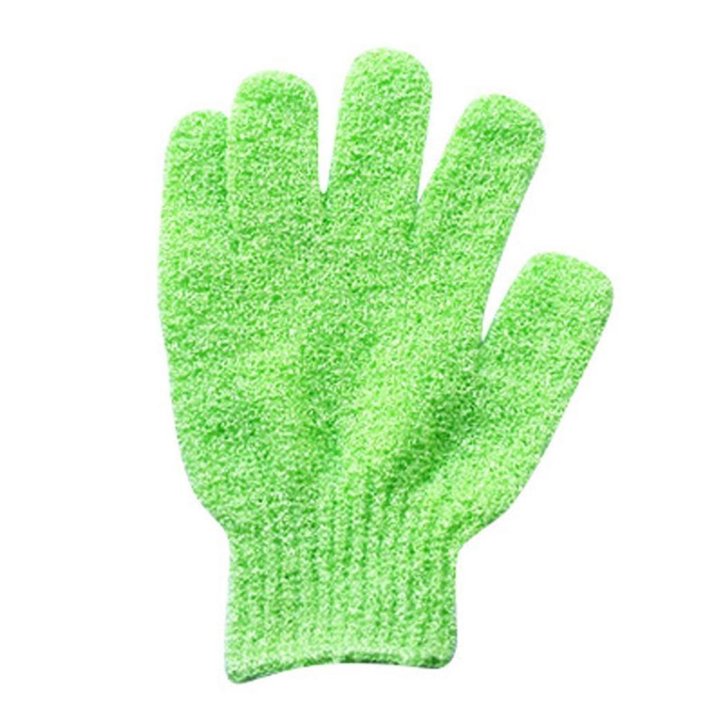 YJYdada 2Pair Bath Scrub mitt Gloves Massage Scrubber Shower wash Skin Spa Shower Tool Purple