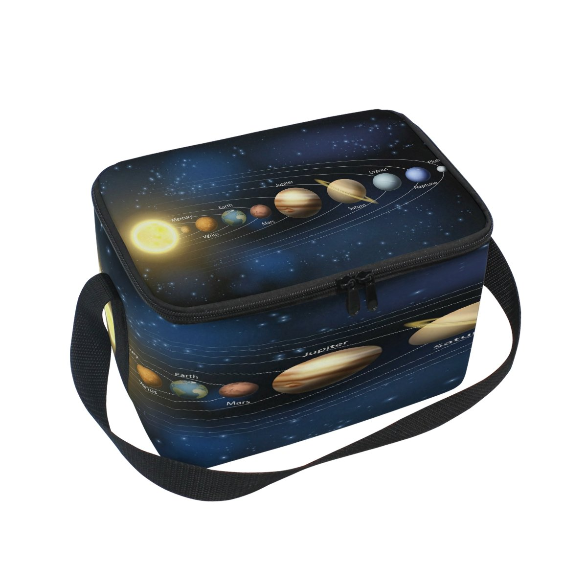 Use4 Planet Solar System Universe Insulated Lunch Bag Tote Bag Cooler Lunchbox for Picnic School Women Men Kids
