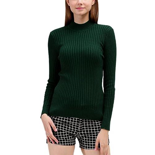 Nergivep - Jerséi - para mujer verde verde oscuro Large