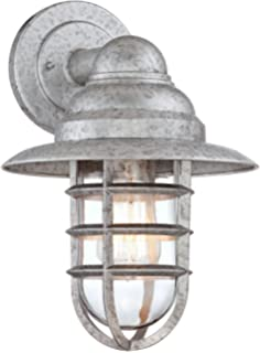 outdoor cage light wall mounted john timberland marlowe galvanized 13 14 bronze