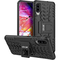 Olixar Samsung Galaxy A70 Protective Case - Heavy Duty Tough Armour Cover - Built in Kickstand - ArmourDillo - Black