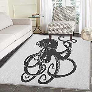 61DEY5USZKL._SS300_ 50+ Octopus Rugs and Octopus Area Rugs