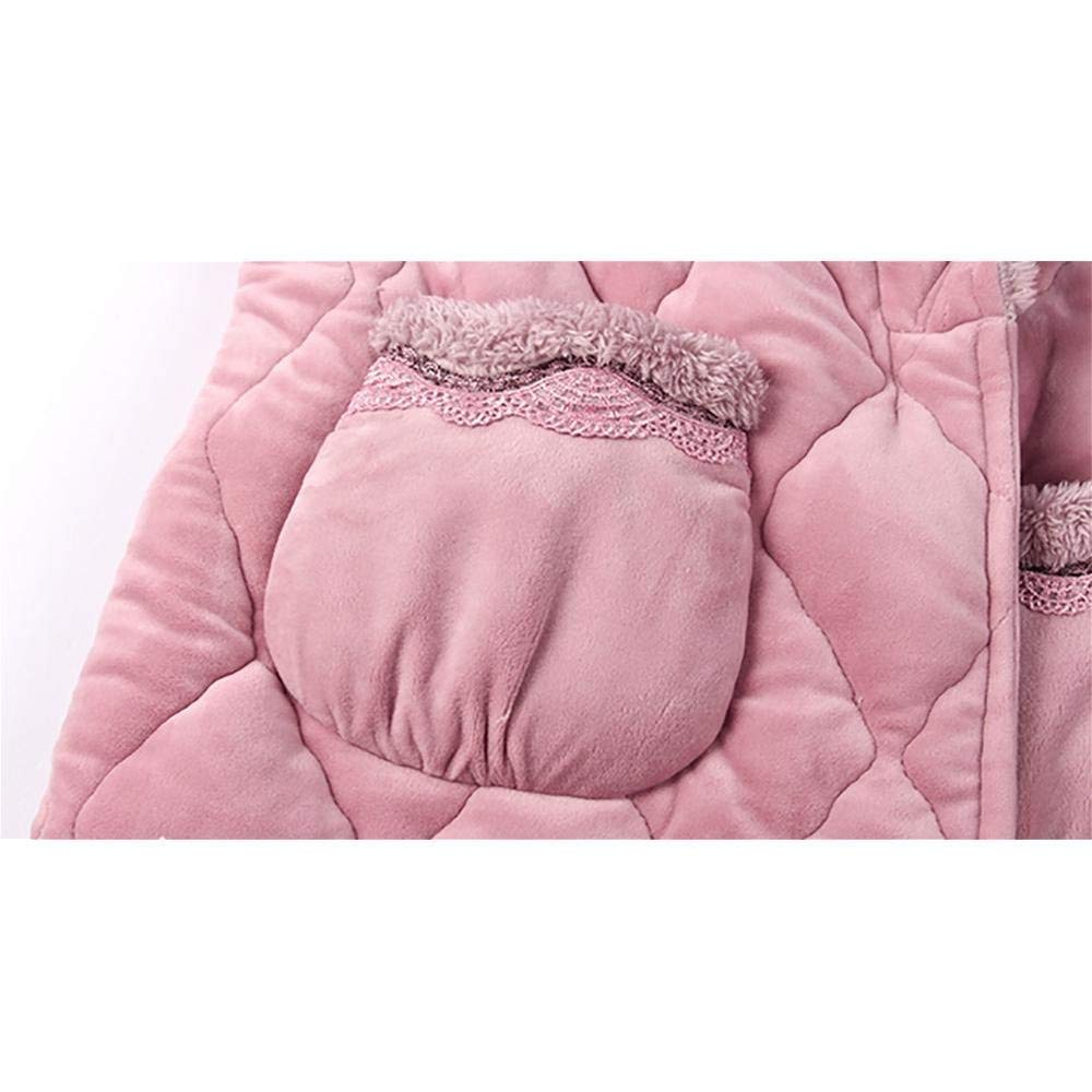 A~LICE&SY& Pijamas Manténgase Caliente Albornoz Toalla de baño para Mujer Bata de baño Batas de baño Ropa de Dormir Salón de salón Se Viste con Bolsillos y ...