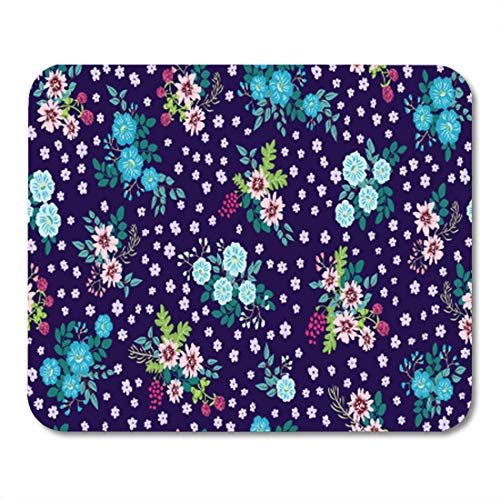 (Semtomn Gaming Mouse Pad Random Folk Pattern in Small Wildflowers Country Millefleurs Floral 9.5