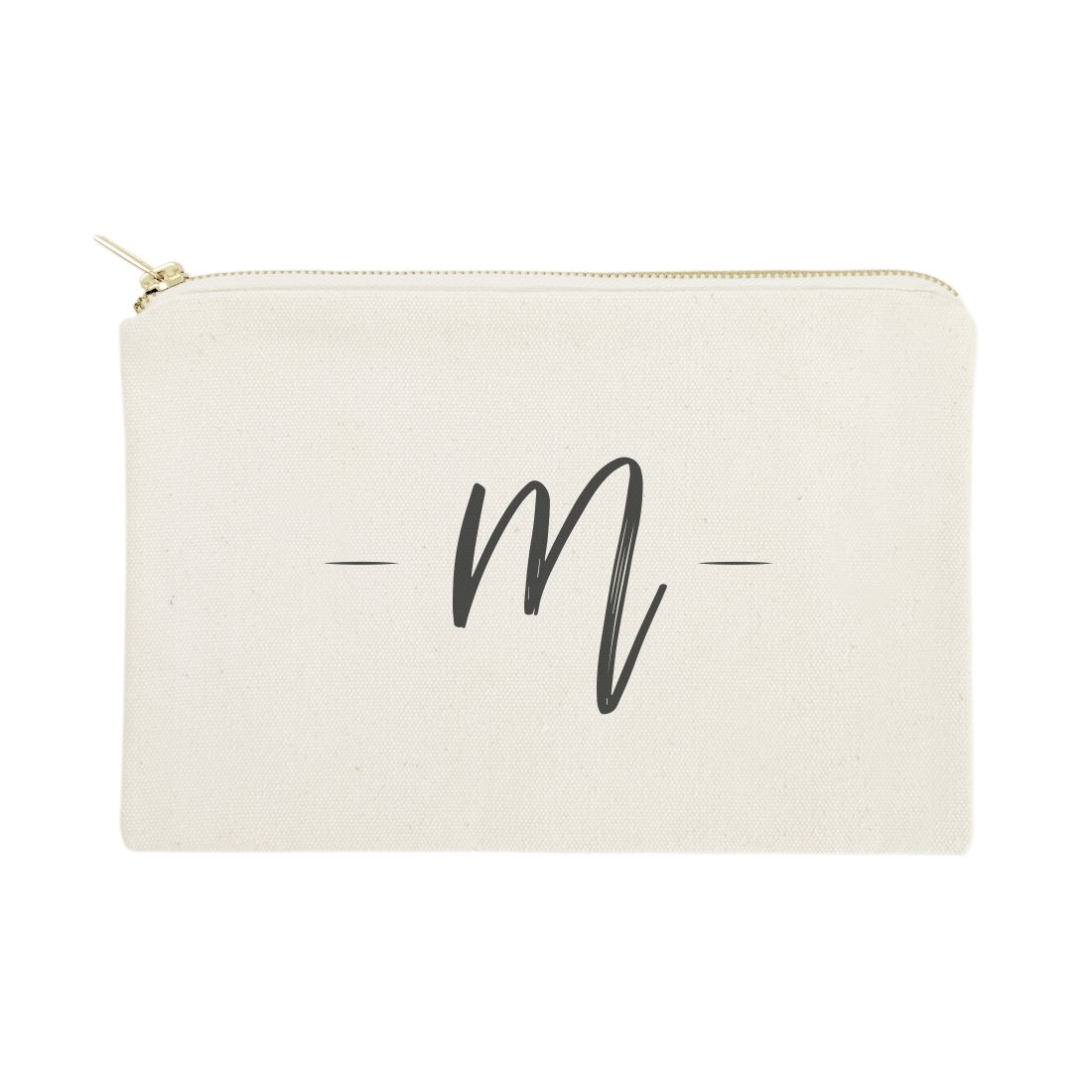 The Cotton & Canvas Co. Personalized Handwritten Monogram Cosmetic Bag and Travel Make Up Pouch