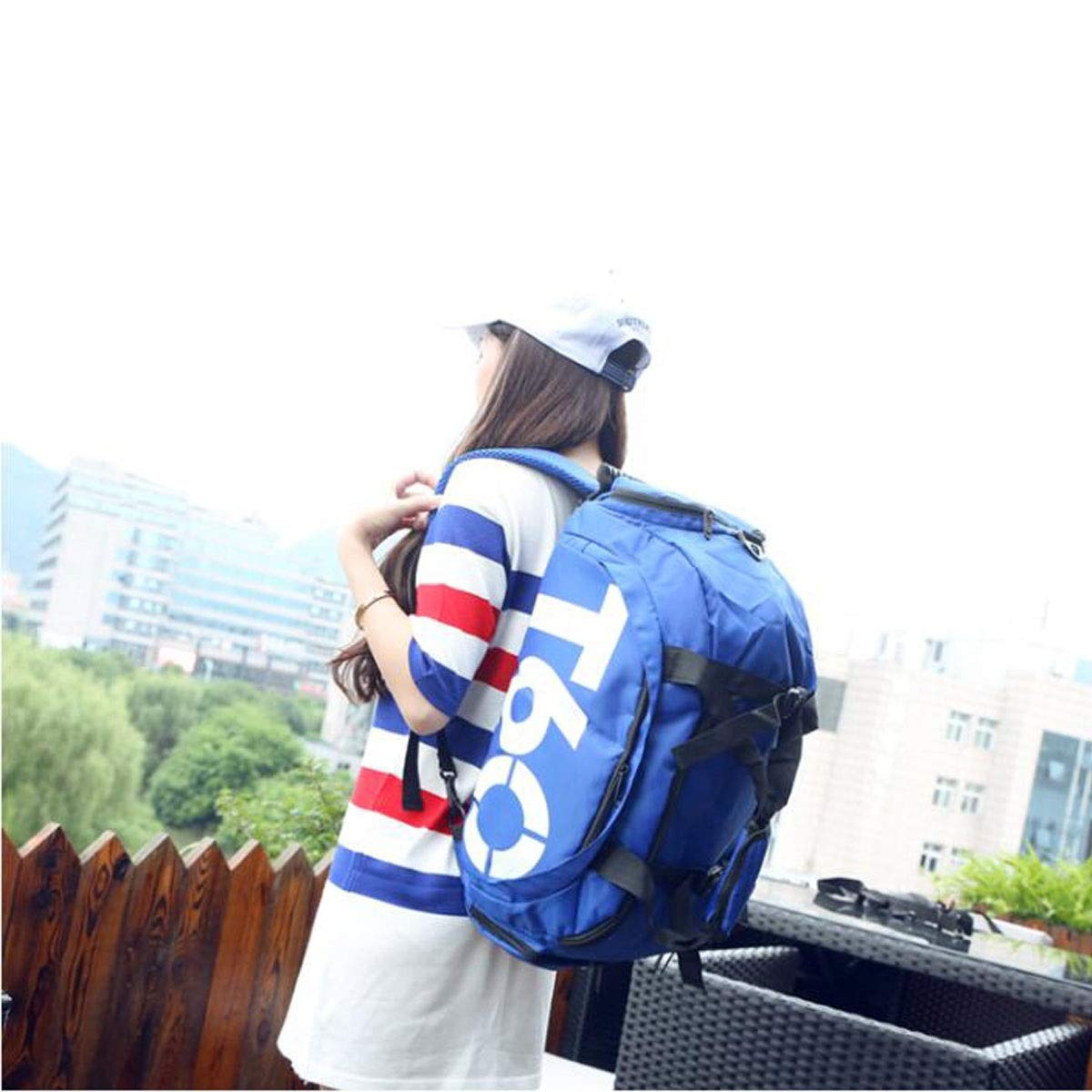 Color : Blue Hongyuantongxun Sports Bag Waterproof Gym Bag Size: 502220cm Safety with Independent Shoe Warehouse Female Hand Bag Large-Capacity Sports Bag Gift Training Bag