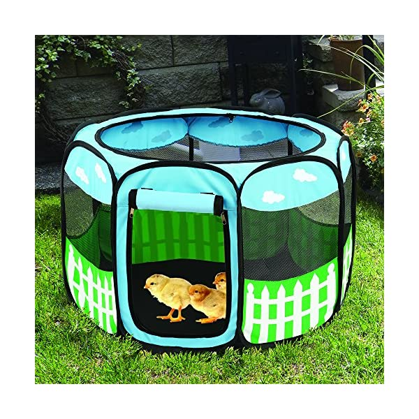 (Small) – Pet Puppy Dog Playpen Exercise Pen Kennel Tent Play Pen Foldable Indoor Outdoor Click on image for further info. 5