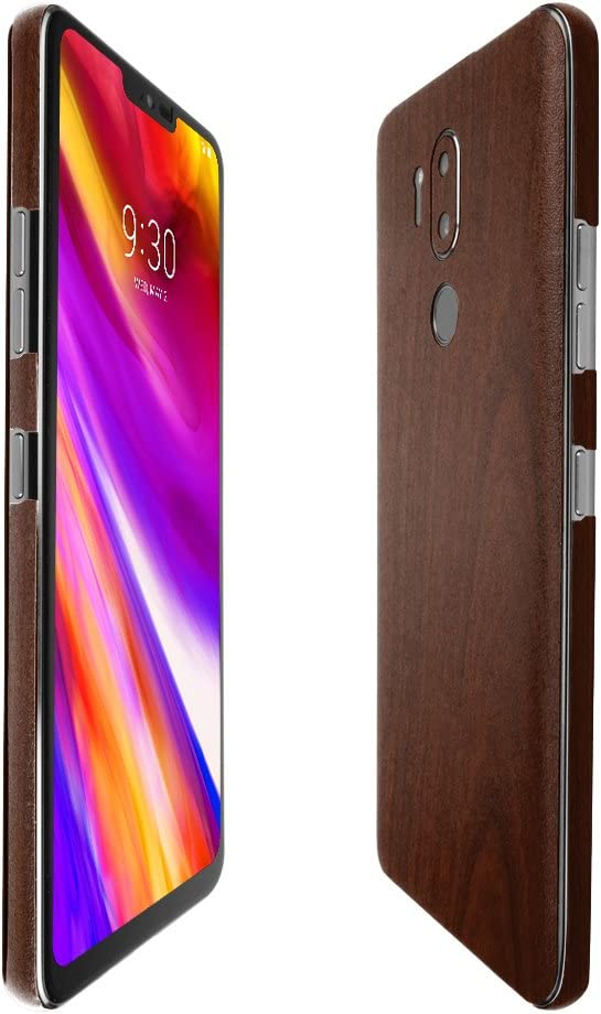 TechSkin with Anti-Bubble Clear Film Screen Protector LG G7+ ThinQ Skinomi Dark Wood Full Body Skin Compatible with LG G7 ThinQ Full Coverage