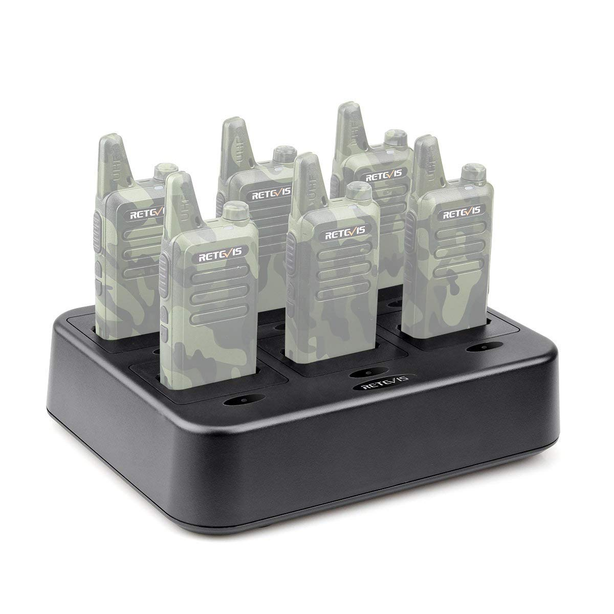 Renewed 1 Pack Retevis RT22 Six-Way Charger Multi Unit Charger/for Retevis RT22 Walkie Talkie and Battery