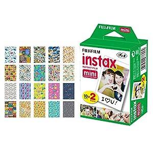 Fujifilm instax mini Instant Film + 20 Sticker Frames for Fuji Instax Prints Travel Package – Deluxe Bundle
