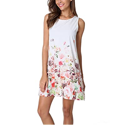 European Sleeveless Printing Chiffon Party Dress Women and Girls Summer Beach Print Dresses