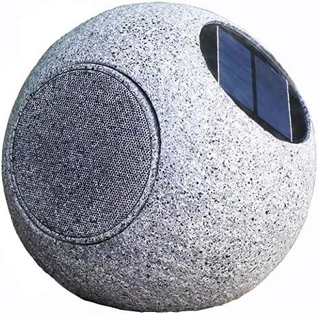 FENWEI Solares Bluetooth estéreo inalámbrico Impermeables Altavoces Altavoces jardín al Aire Libre del césped Altavoces Circulares de Piedra: Amazon.es: Electrónica