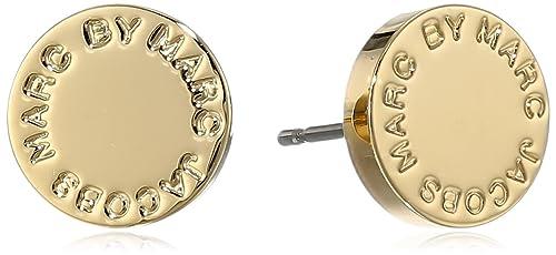 d1183596dee87 Marc by Marc Jacobs Oro Logo Disc Stud Earrings  Amazon.ca  Jewelry