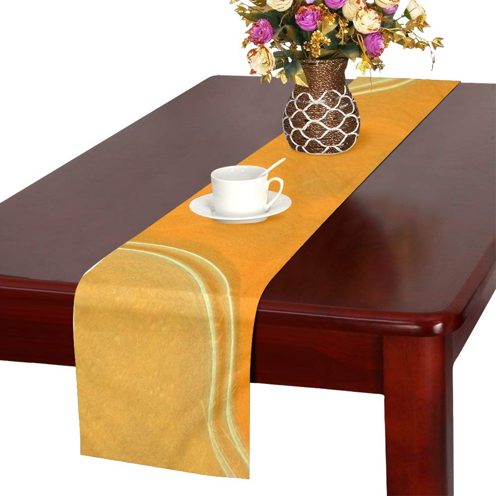 Laser Banner Rays Color Texture Table Runner, Kitchen Dining Table Runner 16 X 72 Inch For Dinner Parties, Events, Decor