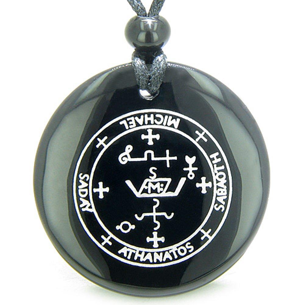 Amazon Sigil Of The Archangel Michael Amulet Black Agate Magic