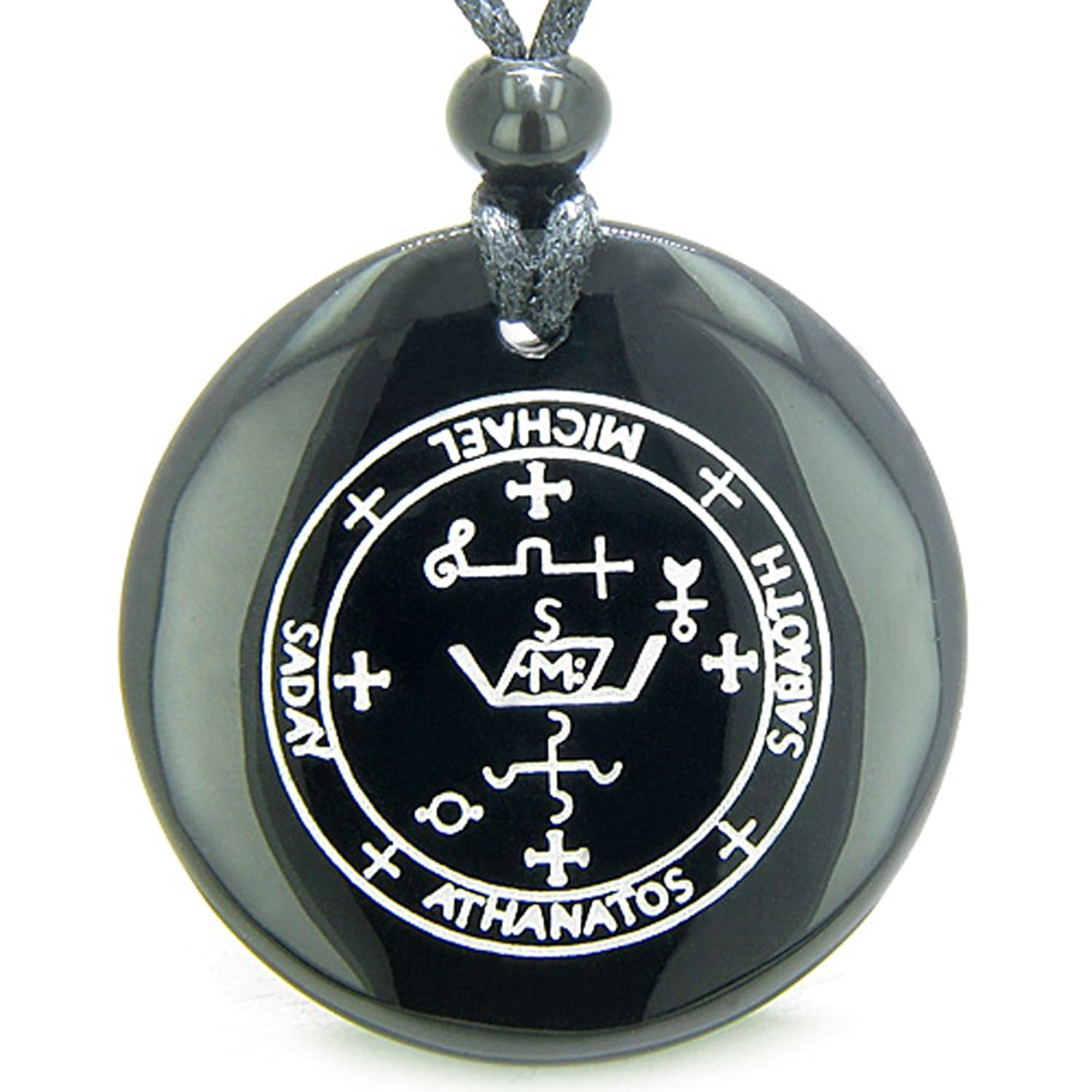 Amazon sigil of the archangel michael amulet black agate amazon sigil of the archangel michael amulet black agate magic pendant necklace sigil protection jewelry biocorpaavc Images