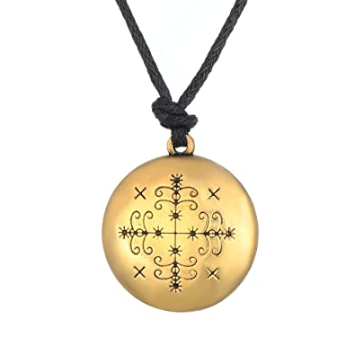 Skyrim Adjustable Chain Papa Legba Veve Pendant Amulet Charm