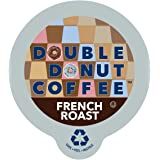 Double Donut French Roast Coffee, in Recyclable Single Serve Cups for Keurig K-Cup Brewers, 12 Count
