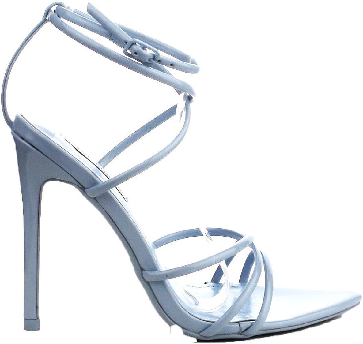 Strappy Blue Heels