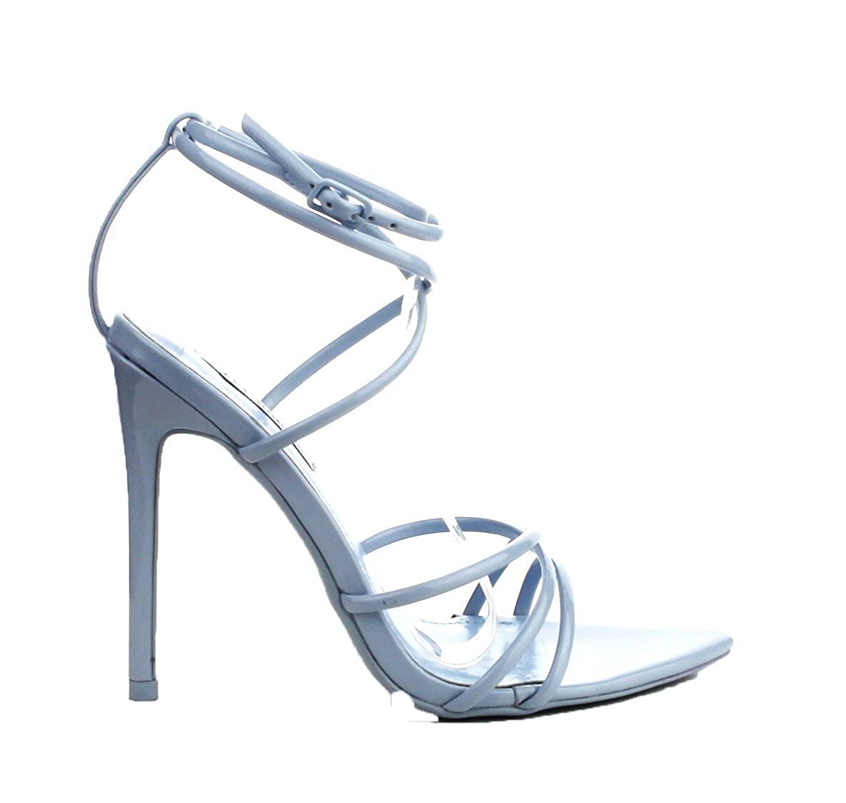 aa1ae715a7 Amazon.com | Cape Robbin ADA Light Blue Strappy Pointy Open Toe Ankle Strap  Stiletto Sandal | Pumps
