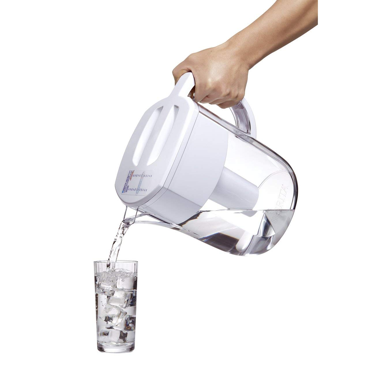 Brita Large 10 Cup Everyday Water Pitcher with Filter - BPA Free - White by Brita (Image #9)