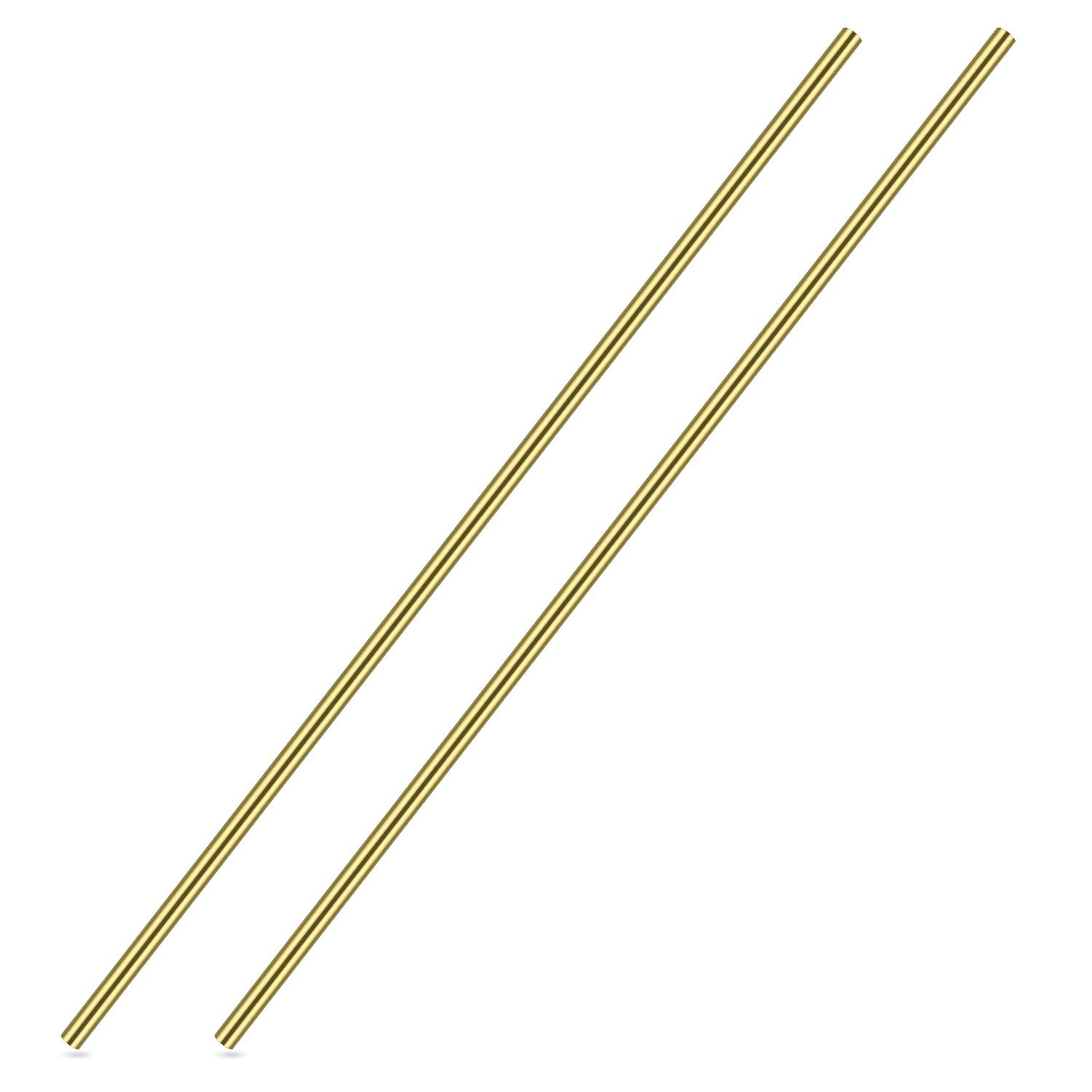 1/4 Inch Brass Round Rod, Favordrory 2PCS Brass Round Rods Lathe Bar Stock, 1/4 Inch in Diameter 14 Inch in Length 61DEc7PzqEL
