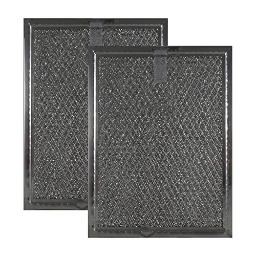 (2-Pack Air Filter Factory Compatible Replacement for Frigidaire 5303319568 Aluminum Grease Mesh Microwave Oven Filters 5-7/8 Inches x 7-7/8 Inches x 1/8 Inches AFF81-M)