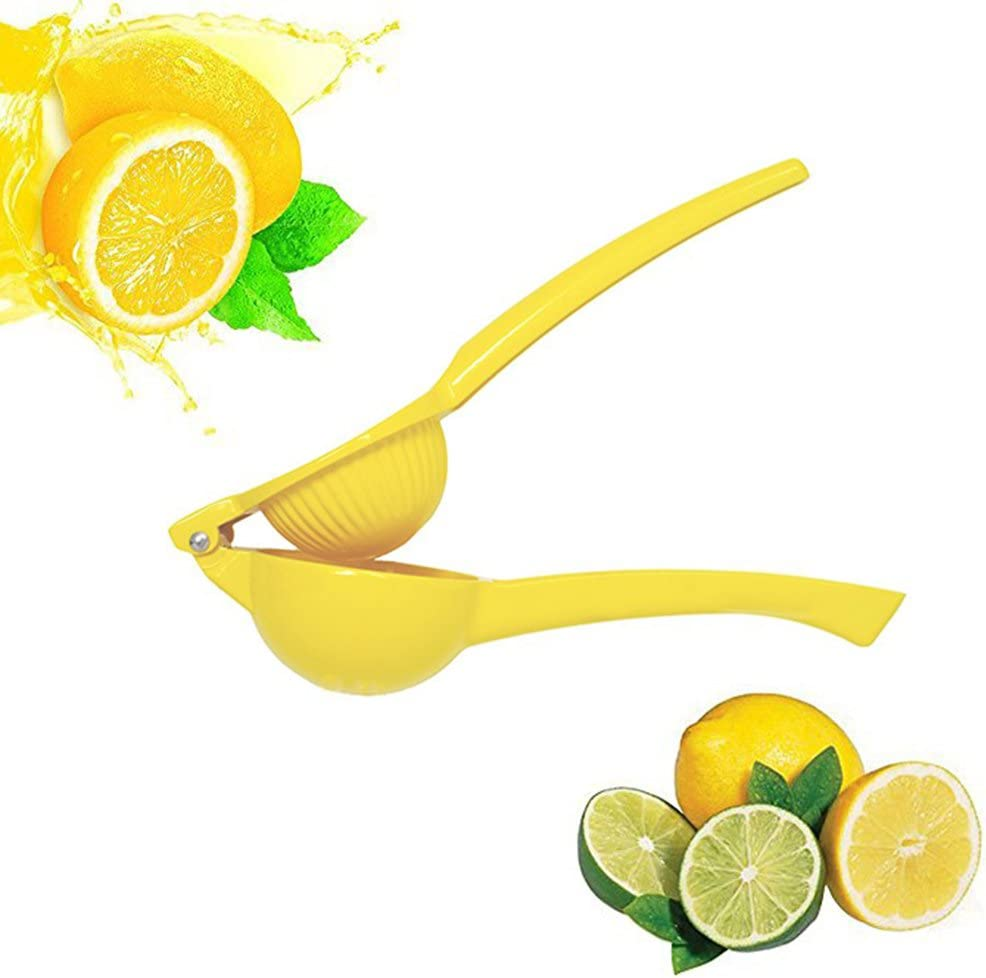 MOTZU Lemon Squeezer,Premium Quality Metal Citrus Press Juicer - Manual Press for Extracting the Most Juice Possible