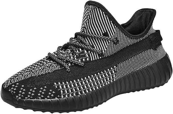 RYTEJFES Zapatos para Correr De Salvaje para Hombres Zapatillas De Deporte Casuales Zapatillas De Al Aire Libre Antideslizantes Malla Transpirables para Hombres Calzado Deportivo Planas con Cordones: Amazon.es: Hogar