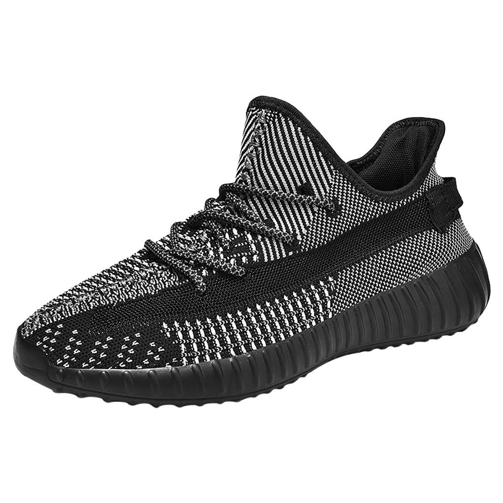 Casual Sneakers for Men の Sameno Street Running Sneakers Non Slip Mesh Walking Shoes Hip Hop Trainers Gray