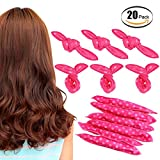 Hair Rollers 20pcs Sleeping Foam Hair Curler Rollers Flexible Soft Pillow No Heat Hair Rollers Magic DIY Sponge Hair Styling Rollers Tools for Women & Girls (Pink)