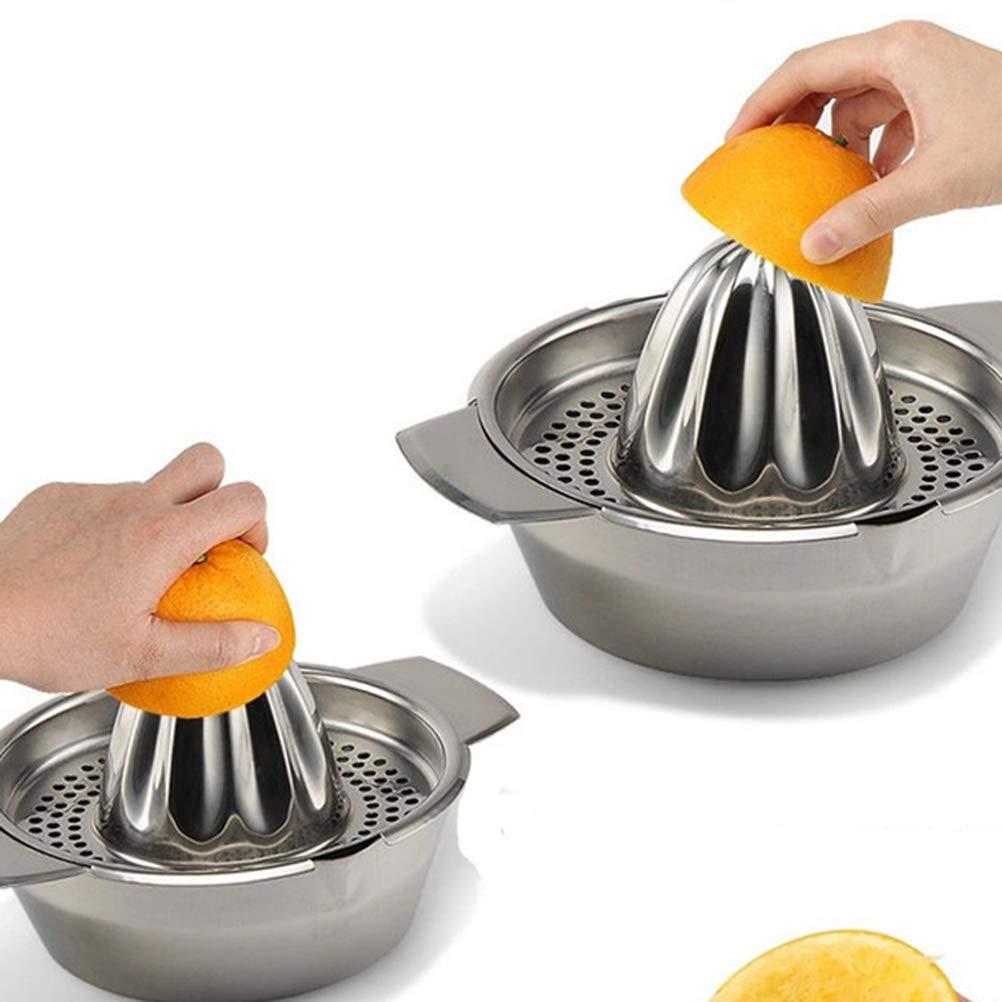 Fruits et Citron Citron Citron BESTONZON Presse-Agrumes en Acier Inoxydable pour jus dorange