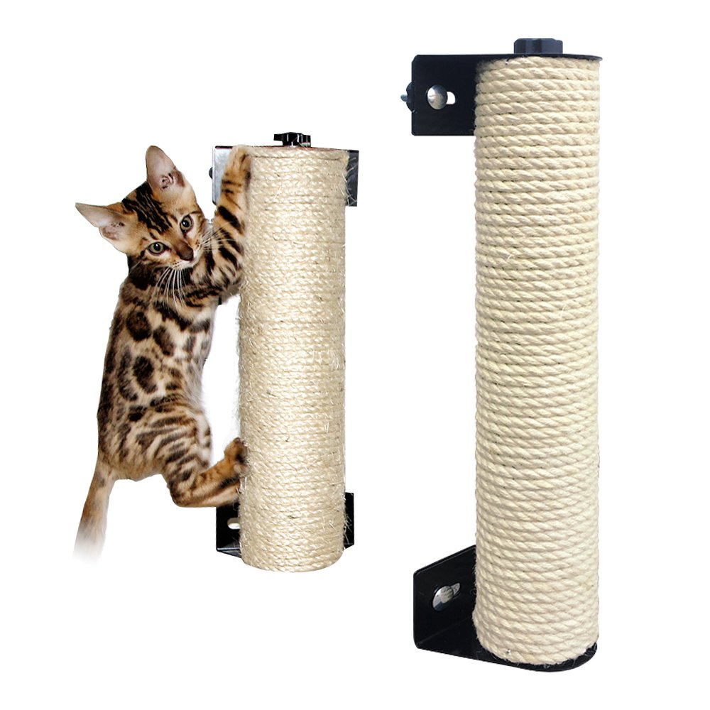 LOHOME Cat Scratching Post - The Cat Scratching Pole Designed for Cage Cat Scratcher Made by Sisal Cat Cage Scratching Post Cat Furniture (3.5 13.7 inch)