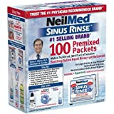 NeilMed's Sinus Rinse Pre-Mixed Packets, 100-Count Boxes (Pack of 2), Health Care Stuffs