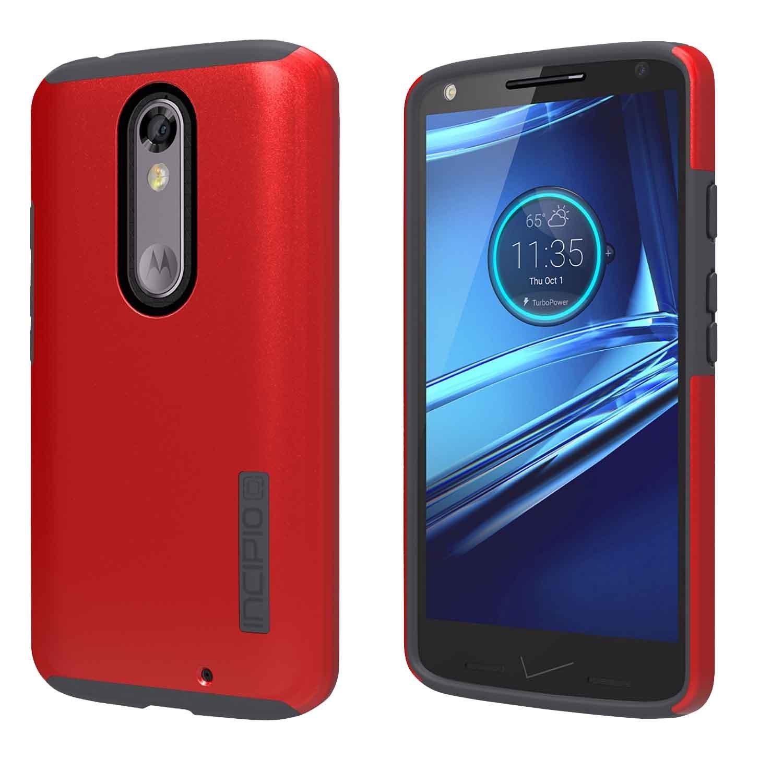 Motorola Droid Turbo 2 / Moto X Force Case, Incipio [Hard Shell] [Dual Layer] DualPro Case for Motorola Droid Turbo 2 / Moto X Force-Iridescent Red/Black