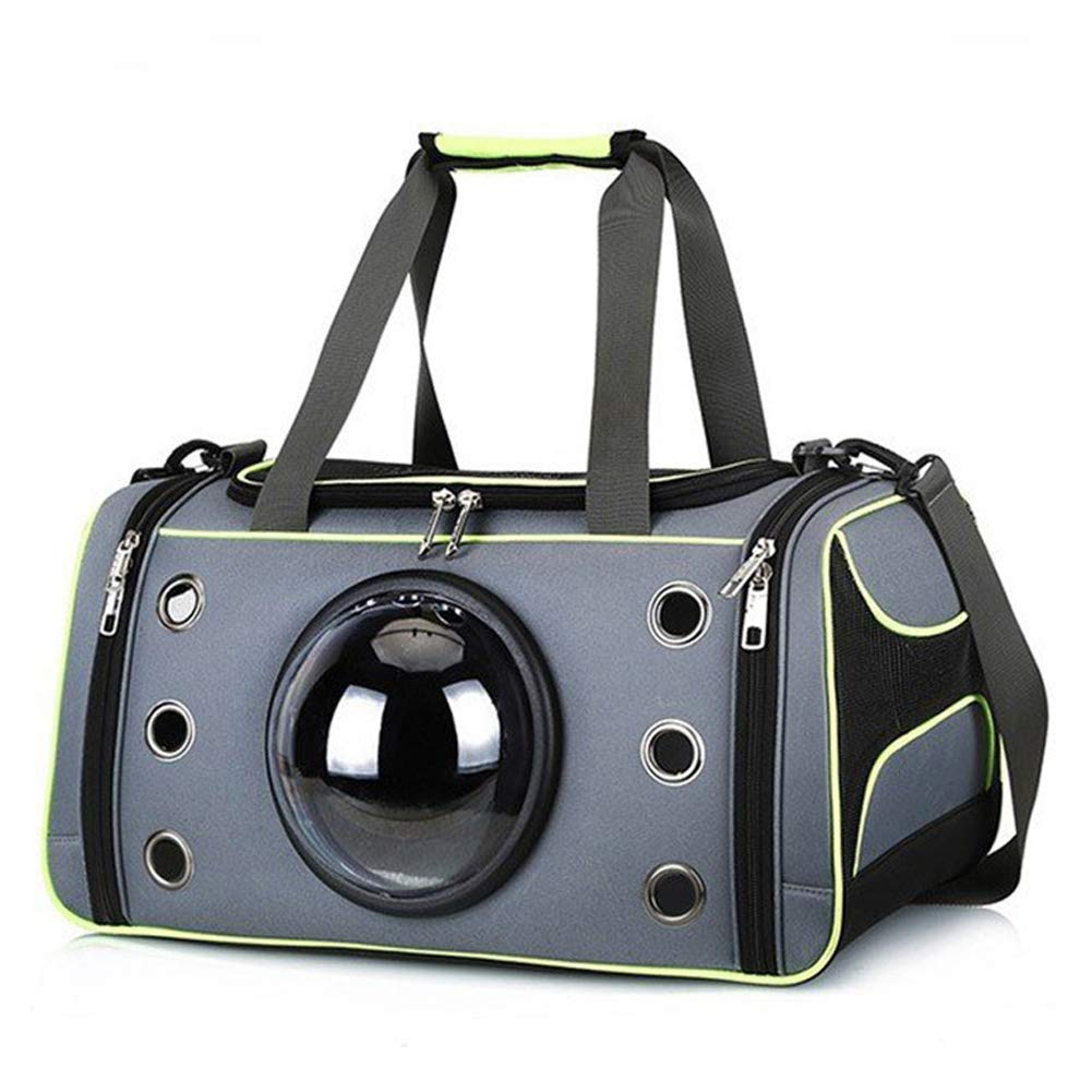 Large Pet Travel Carrier Dog Cat Puppy Lightweight Luxury Folding Airplane Bag with Soft Cushion, Space Capsule Portable Cat Handbag
