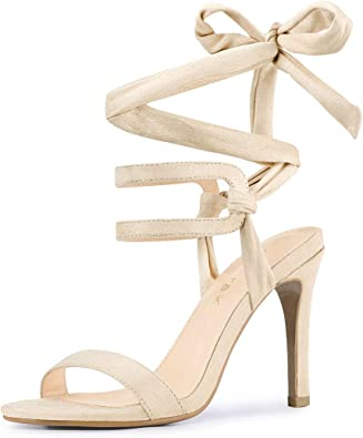 Stiletto High Heel Lace Up Sandals