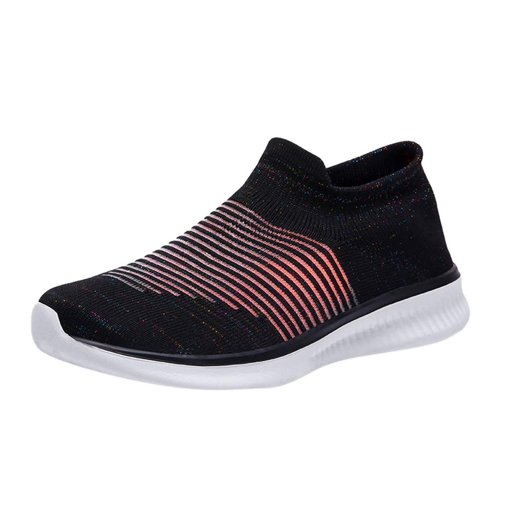 Women Breathable Sneakers,Fashion Ladies Breathable Mesh Set Foot Lightweight Sneakers Running Shoes Black
