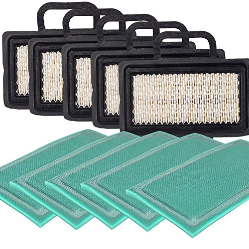 HIFROM Flat Air Filter Pre Filter for Briggs & Stratton 792101 273638S 672772 671231 5408 5408H 273238 Replacement fits Intek V-Twin Engines 16-27 HP (Pack of 5) ()