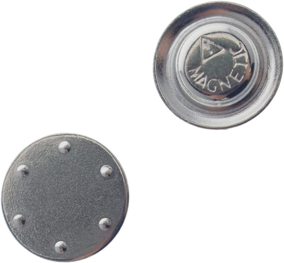 Small Round Button /& badge/ /magneti forte magnetico Nametag e spilla supporti con sticker retro adesivo by Specialist ID confezione da 10